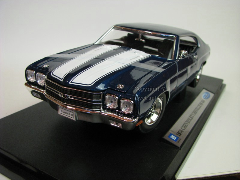 Chevrolet Chevelle SS 454 1970 blue 1:18 Welly