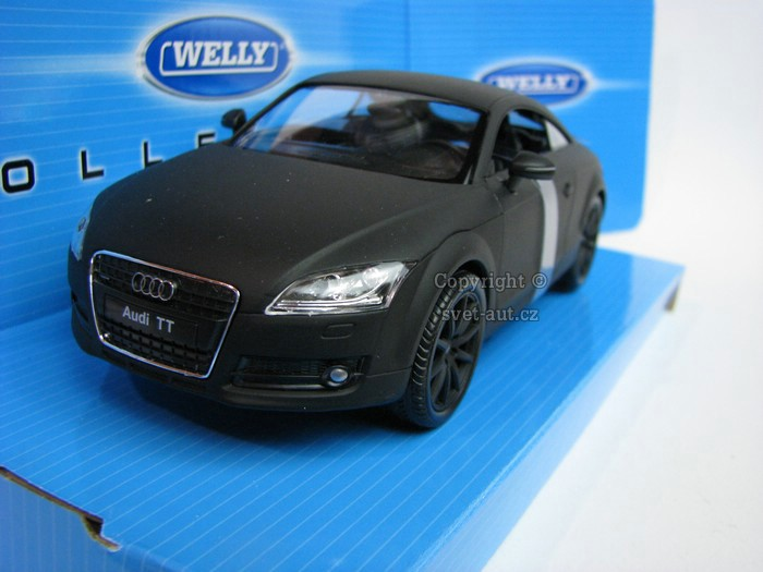 Audi TT Coupe mato black 1:24 Welly