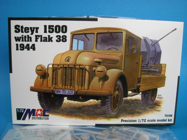 Steyr 1500 with Flak 38 1944 1:72 MAC