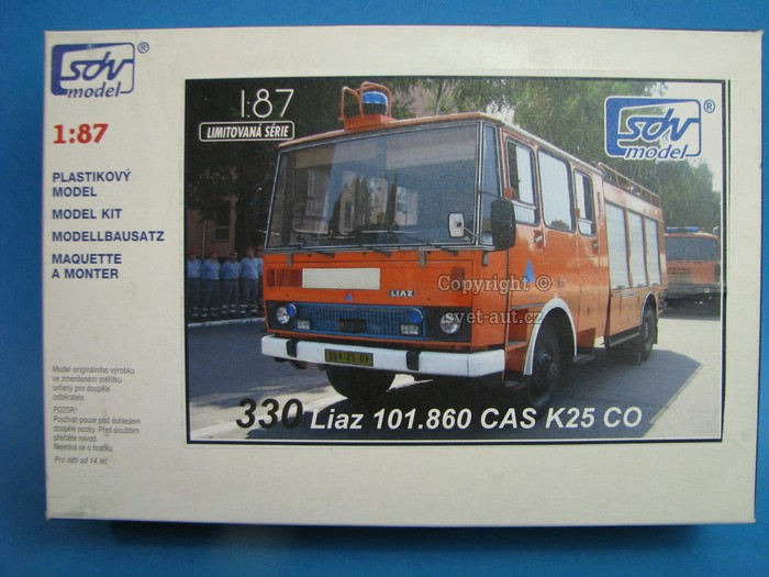 Liaz 101.860CAS K25 CO Kit 1:87 SDV
