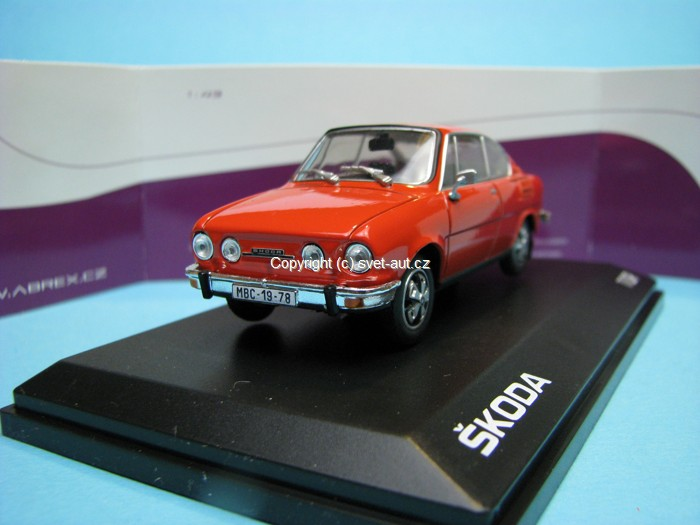 Škoda 110R Coupe 1978 Rosehip red 1:43 Abrex