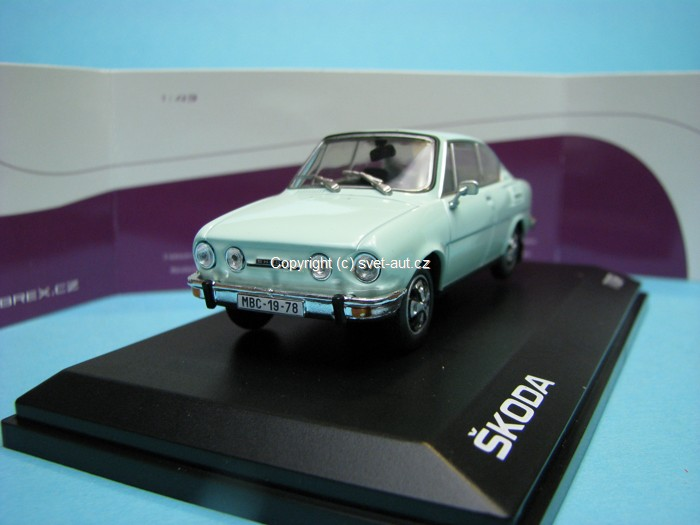 Škoda 110R Coupe 1978 Diamond White 1:43 Abrex