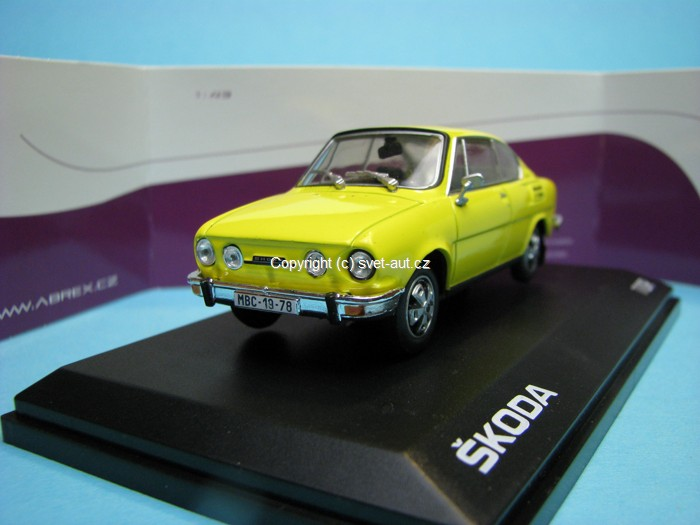 Škoda 110R Coupe 1978 Solar Yellow 1:43 Abrex