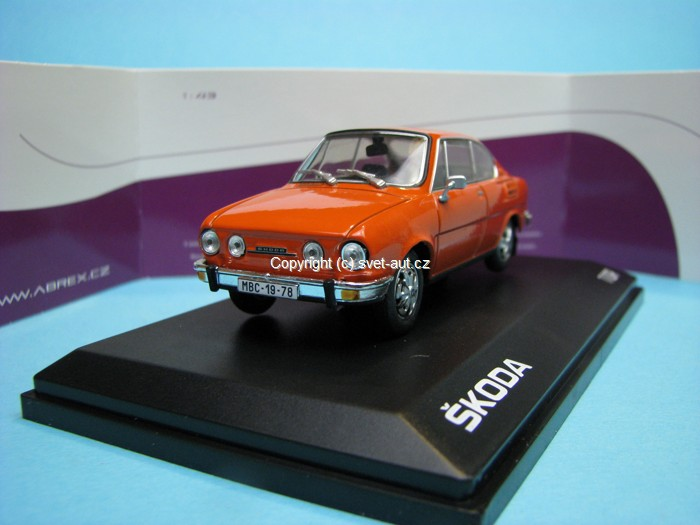 Škoda 110R Coupe 1978 Brilliant Orange 1:43 Abrex