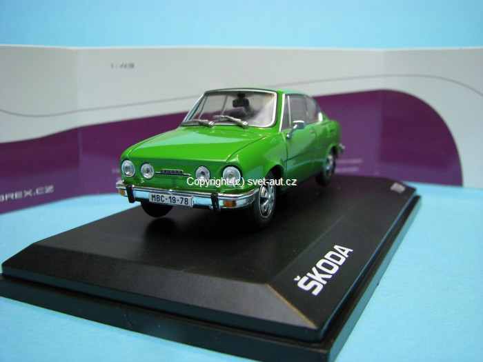 Škoda 110R Coupe 1978 Palm Green 1:43 Abrex
