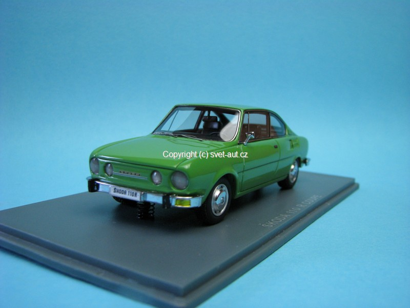 Škoda 110R Coupe 1972 green 1:43 Neo Models