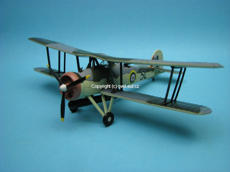Letadlo Fairey Swordfish I 821 Squadron HMS Ark Royal 1940 1:72 Oxford