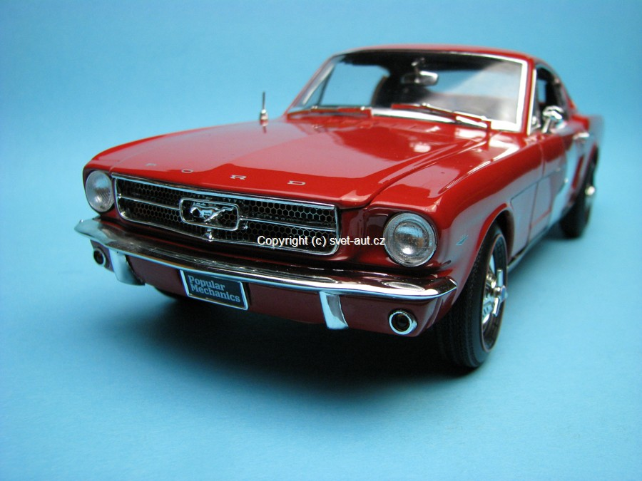 Ford Mustang 2+2 Fastback 1965 red Popular Mechanics 1:18 Ertl