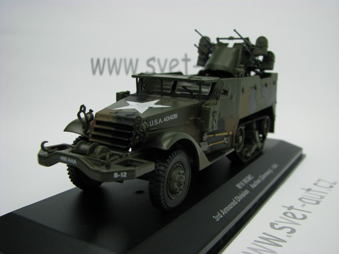 Halftrack M16 MGMC 3rd Armored Division Aachen Germany 1944 1:43 Atlas