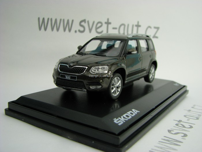 Škoda Yeti Facelift YM Matto Brown 1:43 Abrex