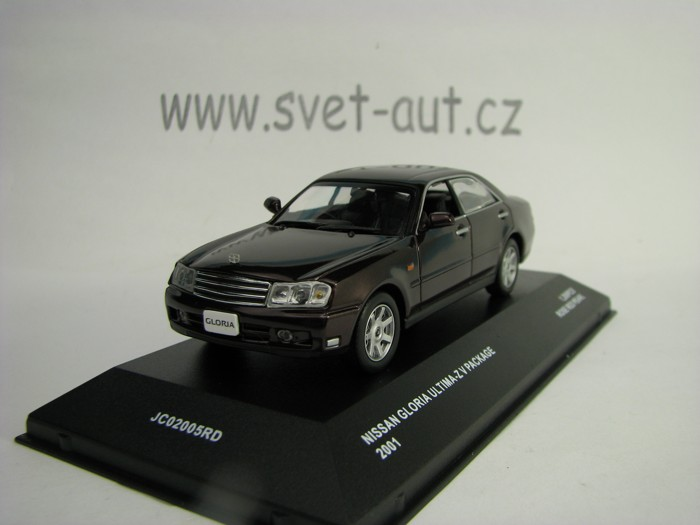 Nissan Gloria Ultima-Z V Package 2001 Rose Red Pearl 1:43 J-collection