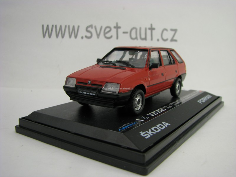 Škoda Forman 1993 Limited edition BQ Sportline Red 1:43 Abrex