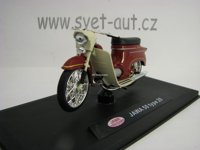 Jawa 50 (type 20) - Dark Cherry Red 1:18 Abrex
