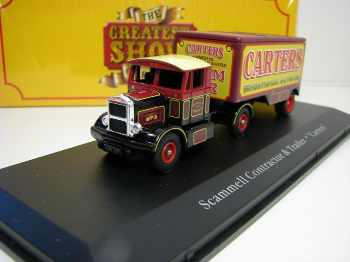 Scammell Contractor a Trailer Carters 1:76 The Greatest Show On Earth