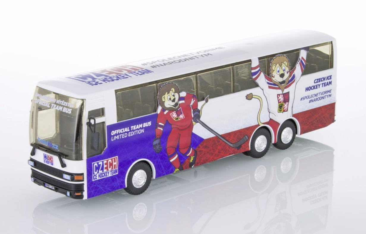 Autobus Setra Czech Ice Hockey Team stavebnice 1:48 Vista Semily Monti system