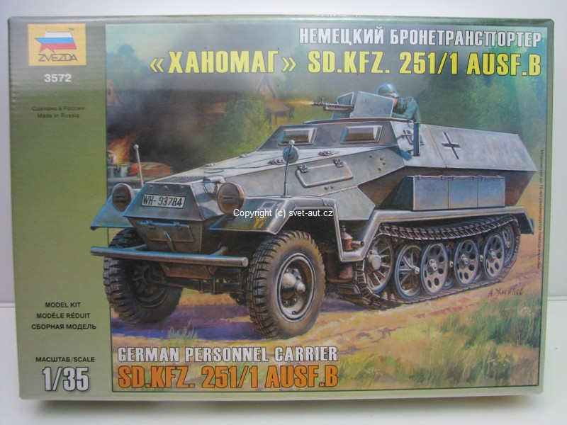 SD.KFZ. 251/1 AUSF.B German Personnel carrier 1:35 Zvezda