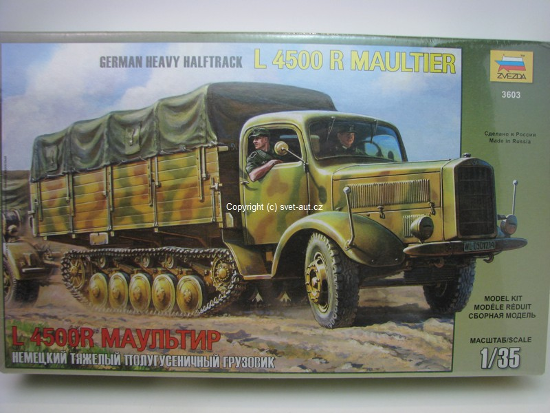 German Halftrack L 4500 Maultier 1:35 Zvezda