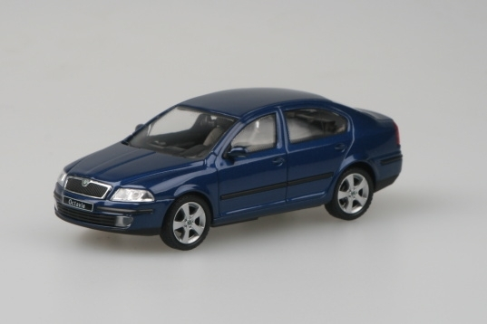 Škoda Octavia II K Deep Sea blue metallic 1:72 Abrex