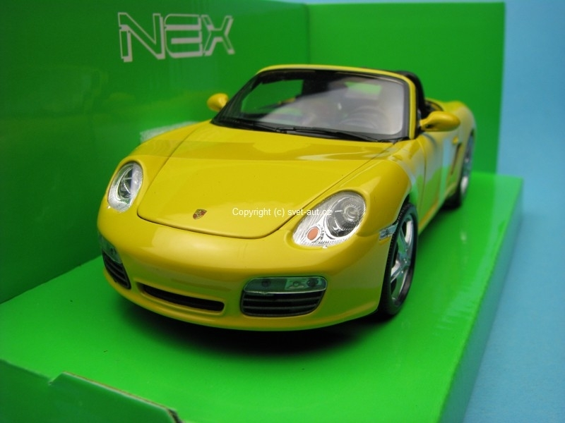 Porsche Boxster S yellow 1:24 Welly