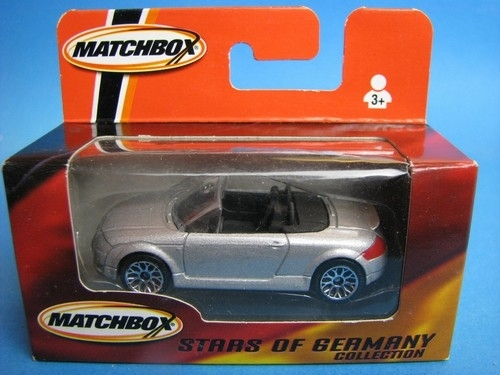 Audi TT Roadster silver 1:57 Matchbox Stars of