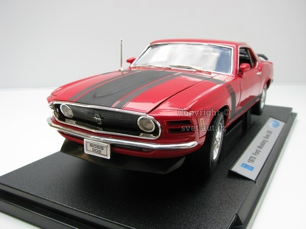 Ford Mustang Boss 302 1970 Red 1:18 Welly