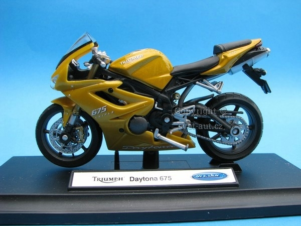 Triumph Daytona 675 yellow 1:18 Welly