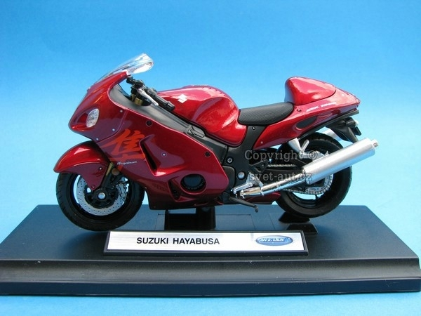 Suzuki Hayabusa red 1:18 Welly