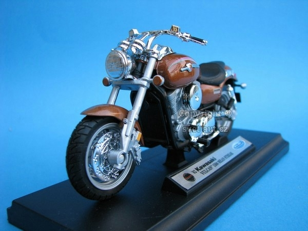 Kawasaki Vulcan 1500 Mean Streak brown 1:18 Welly