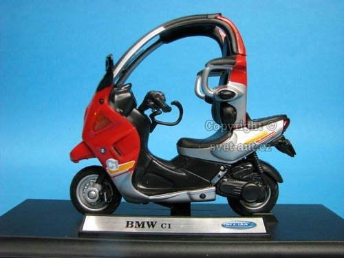 BMW C1 red 1:18 Welly