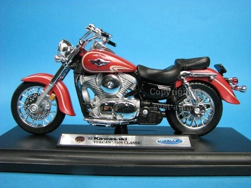Kawasaki Vulkan 1500 Clasic 2002 brown 1:18 Welly