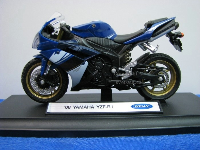 Yamaha YZF-R1 2008 Blue 1:18 Welly