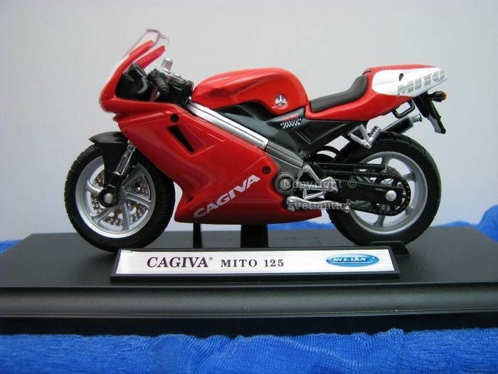 Cagiva MITO 125 Red 1:18 Welly