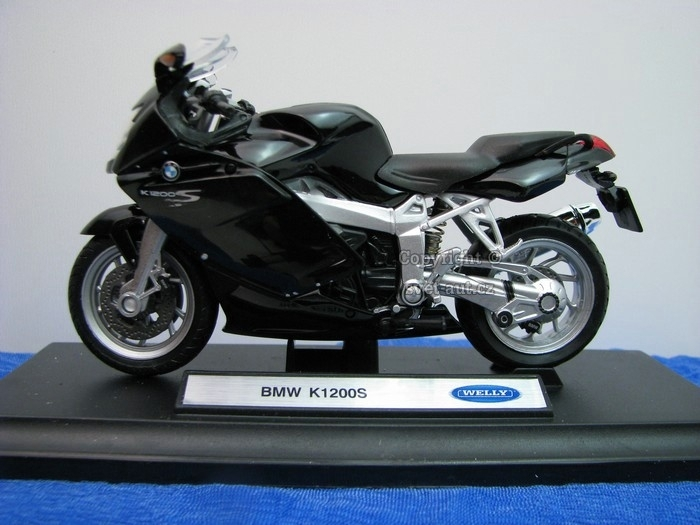 BMW K1200S Black 1:18 Welly