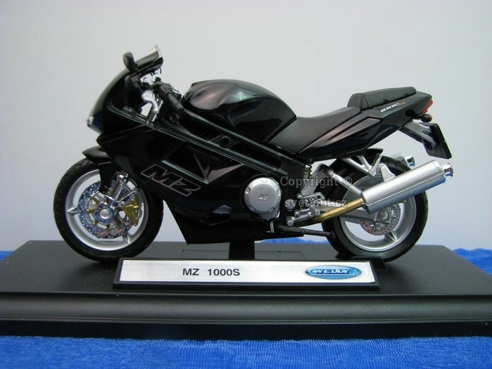 MZ 1000S Black 1:18 Welly