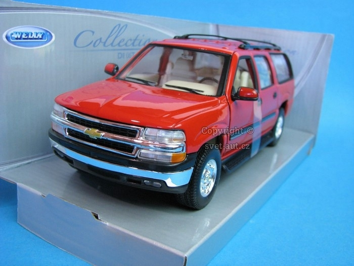 Chevrolet Suburban 2001 red 1:24 Welly