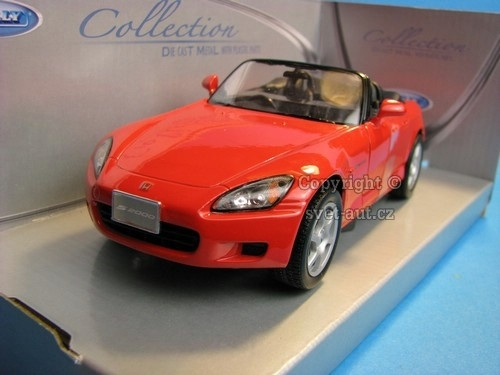 Honda S2000 Japanese version red 1:24 Welly Slevy