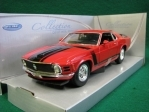 Ford Mustang Boss 302 1970 Red 1:24 Welly