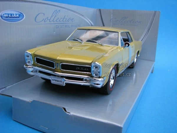 Pontiac GTO 1965 yellowgold 1:24 Welly