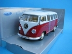 Volkswagen T1 Classical Bus 1963 Red/White 1:24 Welly