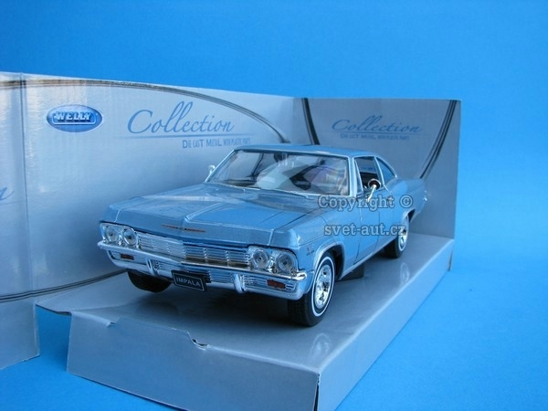 Chevrolet Impala SS 396 1965 blue 1:24 Welly