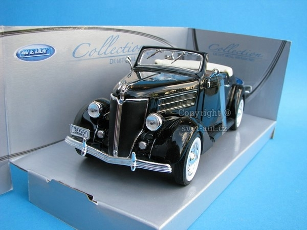Ford Deluxe Cabriolet 1936 black 1:24 Welly