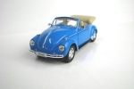 Volkswagen Beetle Convertible blue 1:24 Welly