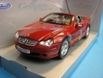 Mercedes SL500 Red Brown černé sedačky 1:24 Welly