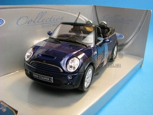 Mini Cooper S Cabrio Blue 1:24 Welly