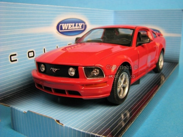 Ford Mustang GT 2005 Red 1:24 Welly