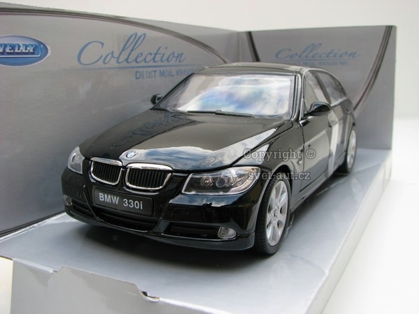 BMW 330i black 1:24 Welly