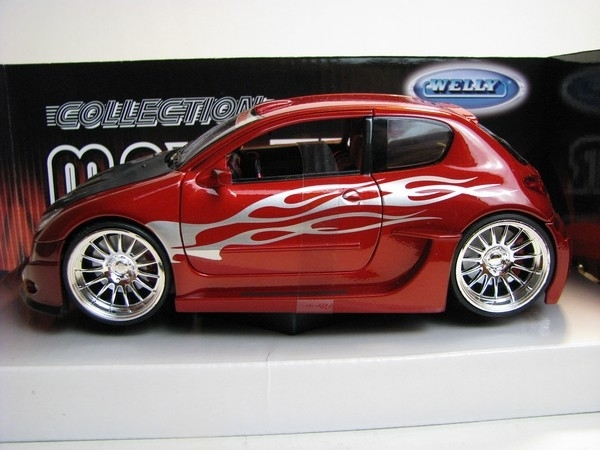 Peugeot 206 Tuning red 1:24 Welly