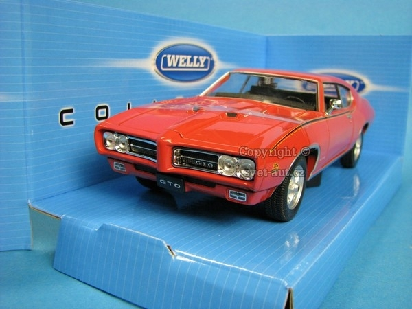 Pontiac GTO 1969 Orange 1:24 Welly