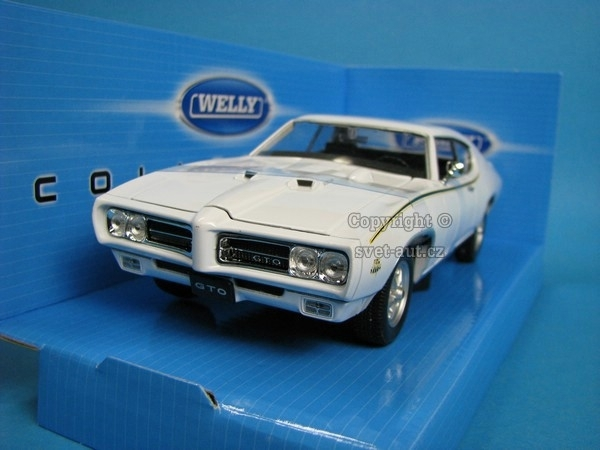 Pontiac GTO 1969 White 1:24 Welly