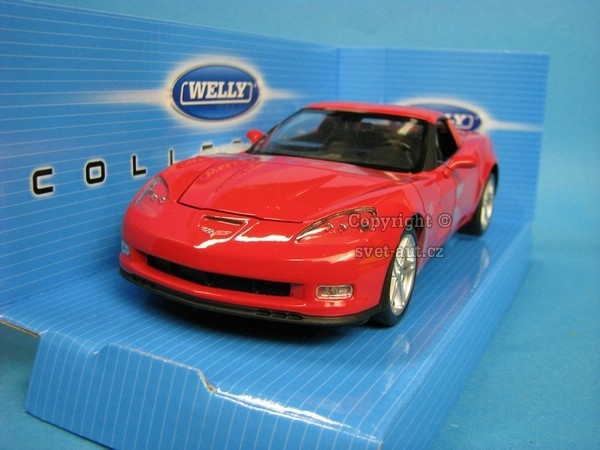 Chevrolet Corvette 2007 red 1:24 Welly